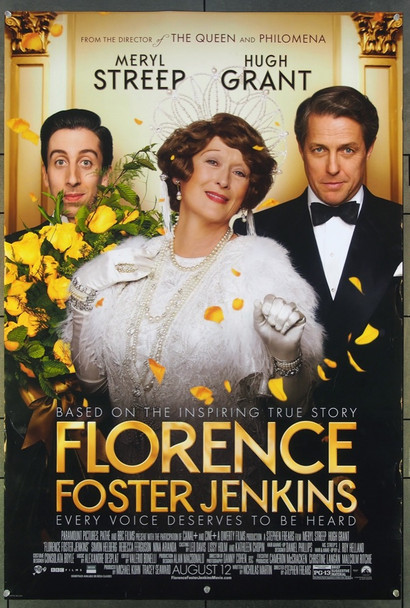 FLORENCE FOSTER JENKINS (2016) 26599 Paramount Pictures Original One-Sheet Poster (27x40) Never Folded  Fine Plus Condition