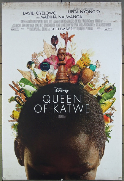 QUEEN OF KATWE (2016) 26606 Original Walt Disney Productions Advance One Sheet Poster (27x40).  Rolled.  Very Fine.