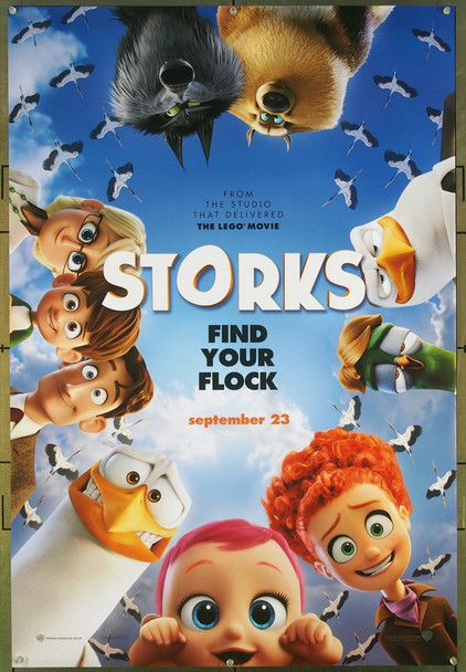 STORKS (2016) 26609 Original Warner Brothers Advance One Sheet Poster (27x41).  Double-Sided.  Rolled.  Very Fine.