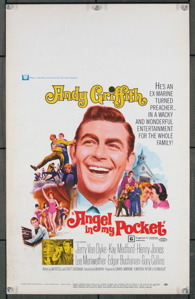ANGEL IN MY POCKET (1969) 8588 Original Universal Pictures Window Card (14x22).  Very Fine   NOT a DVD