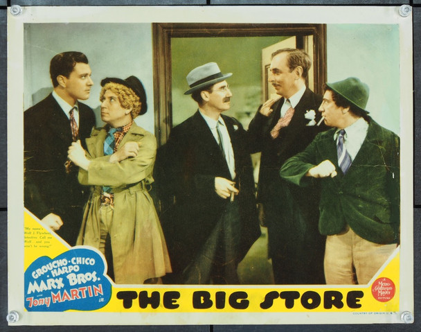BIG STORE, THE (1941) J21711 Original MGM Scene Lobby Card (11x14).  Very Good.  Average Theater-Used Condition