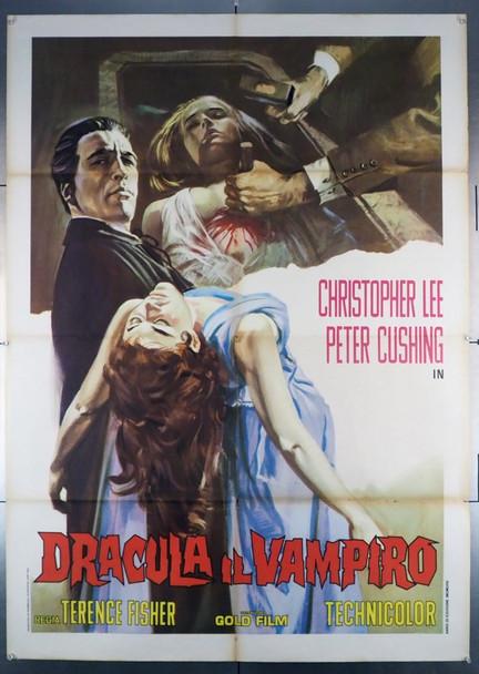 DRACULA (1958) 23550 Original Italian Two Sheet Poster (39x55).  Folded.  Fine Plus.