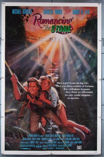 ROMANCING THE STONE (1984) 3033 Original 20th Century-Fox One Sheet Poster (27x41).  Folded.  Near Mint.
