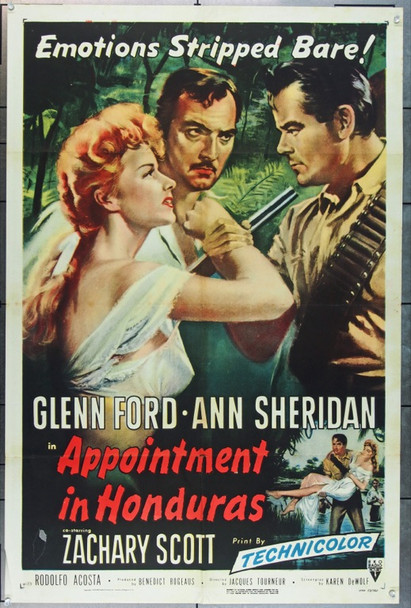 APPOINTMENT IN HONDURAS (1953) 20771 RKO Original One-Sheet Poster (27x41) Folded Fine Plus Condition
