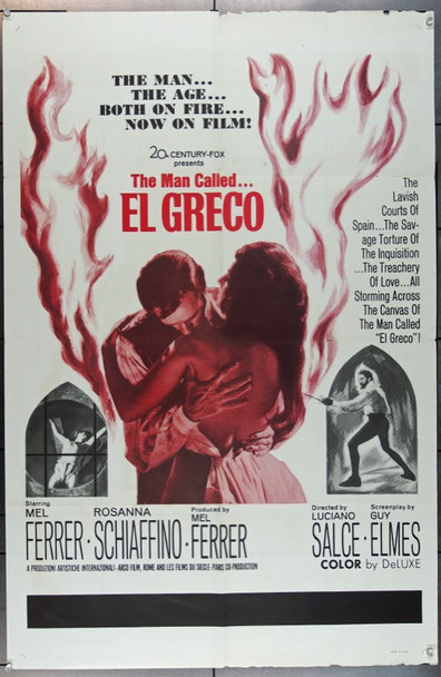 EL GRECO (1966) 20780 Original U.S. One-Sheet Poster (27x41) Fair to Good Condition  Folded