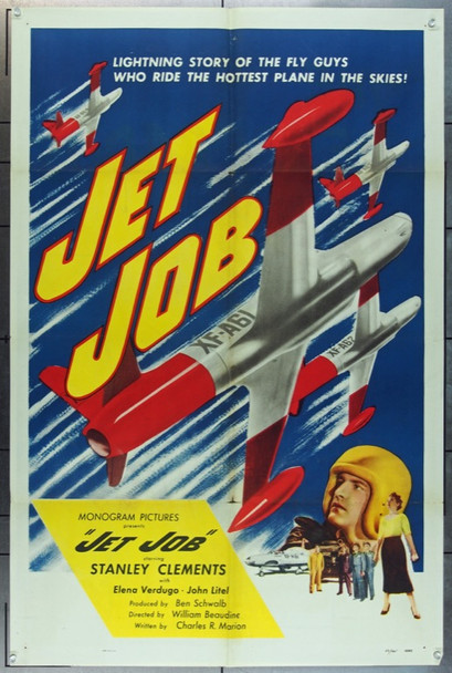 JET JOB (1952) 20788 Original Monogram One Sheet Poster (27x41) Folded  Fine Plus Condition
