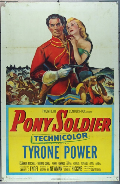 PONY SOLDIER (1952) 20795 20th Century Fox Original U.S. One Sheet Poster  (27x41) Folded  Very Good Plus