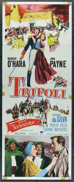 TRIPOLI (1950) 20767 Paramount Pictures Original U.S. Insert Poster (14x36)