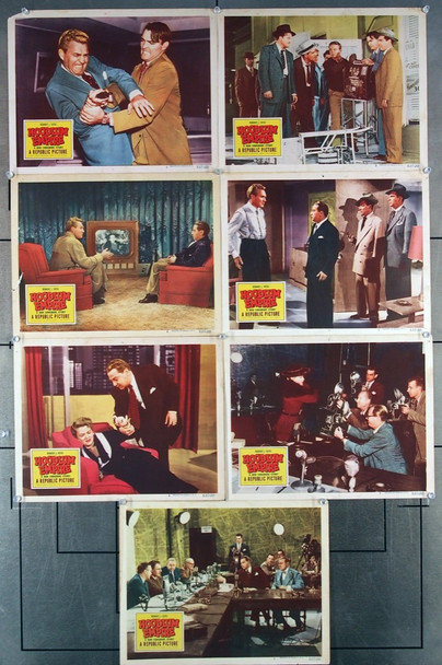 HOODLUM EMPIRE (1952) 8391 Original Republic Pictures Group of Seven Scene Lobby Cards (11x14).  Good Condition.