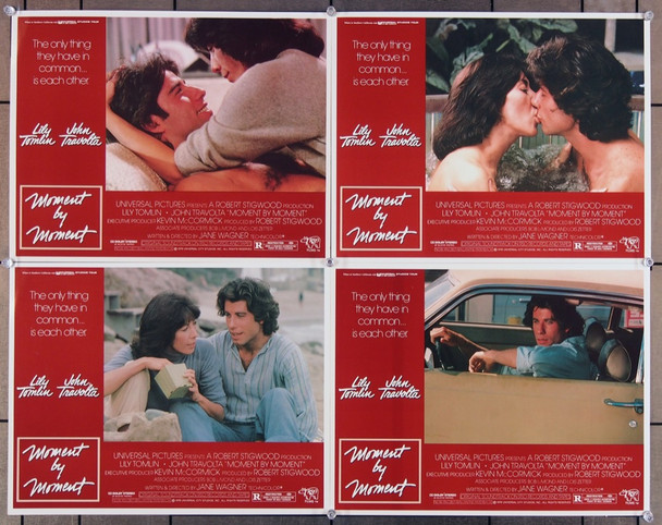 MOMENT BY MOMENT (1978) 1418 Original Universal Pictures   Group of four scene lobby cards   11x14  Movie Poster