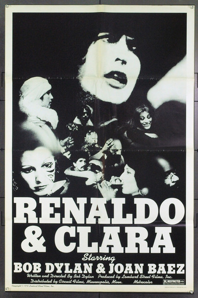 RENALDO AND CLARA (1978) 21359 Original Circuit Films One Sheet Poster (27x41).  Folded.  Very Fine.