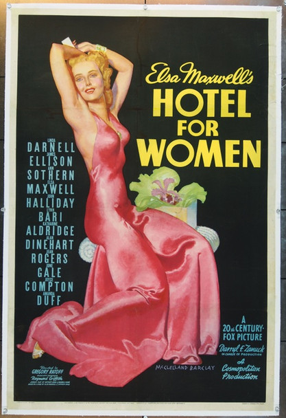 HOTEL FOR WOMEN (1939) 24690 Original 20th Century-Fox One Sheet Poster (27x41).  Stone Lithograph.  Linen-Backed.  Very Fine.