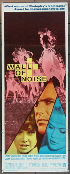 WALL OF NOISE (1963) 11248 Warner Brothers Original Insert Poster   14 x 36  Very Good Condition