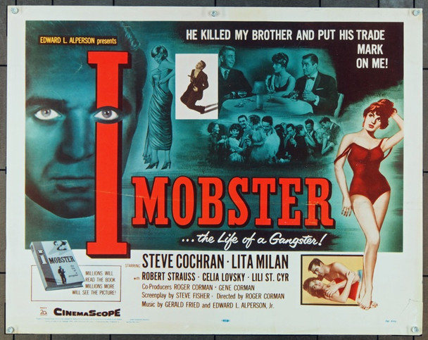 I MOBSTER (1958) 857 20th Century Fox Original U.S. Half Sheet Poster (22x28)  Very Good Condition