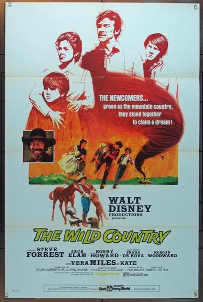 WILD COUNTRY, THE (1970) 5546 Buena Vista Original U.S. One Sheet Poster (27x41) Folded  Very Fine