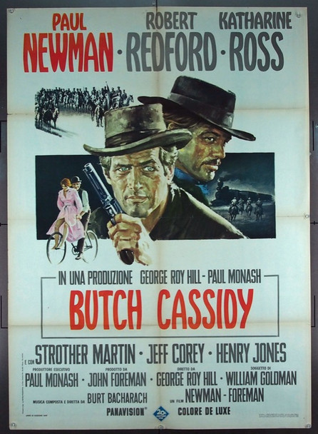 BUTCH CASSIDY AND THE SUNDANCE KID (1969) 25569 20th Century Fox Original Italian 39x55 Poster  Unbacked  Fine Plus Condition