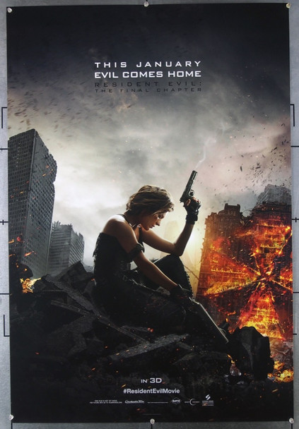 RESIDENT EVIL: THE FINAL CHAPTER (2016) 26562 Sony Pictures Original One-Sheet Poster (27x40) Rolled Very Fine Condition