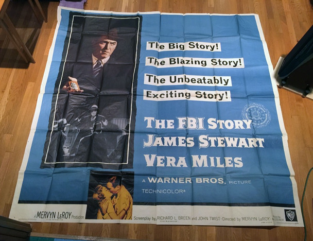 FBI STORY, THE (1959) 16079 Warner Brothers Original Six Sheet Movie Poster (81x81)  Theater-Used  Fine Condition