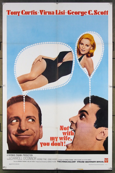 NOT WITH MY WIFE, YOU DON'T (1966) 18548 Original Warner Brothers One Sheet Poster (27x41).  Folded.  Fine Plus Condition.