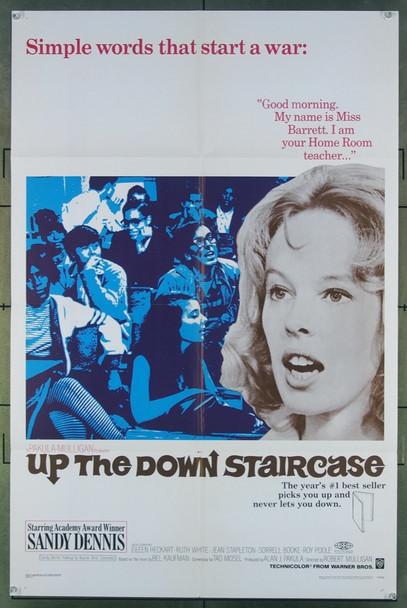 UP THE DOWN STAIRCASE (1967) 18047 Warner Brothers Original One-Sheet Poster (27x41) Folded  Fine Plus to Very Fine Condition