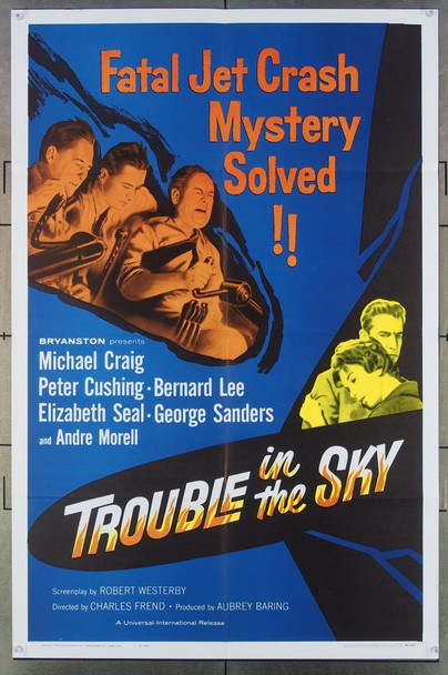 TROUBLE IN THE SKY (1960) 18046 Universal Pictures One-Sheet Poster (27x41) Folded  Very Fine Condition