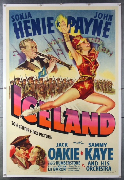 ICELAND (1942) 8348 20th Century Fox Original One-Sheet Poster (27x41) Linen Backed  Fine Plus Restored to Very Fine