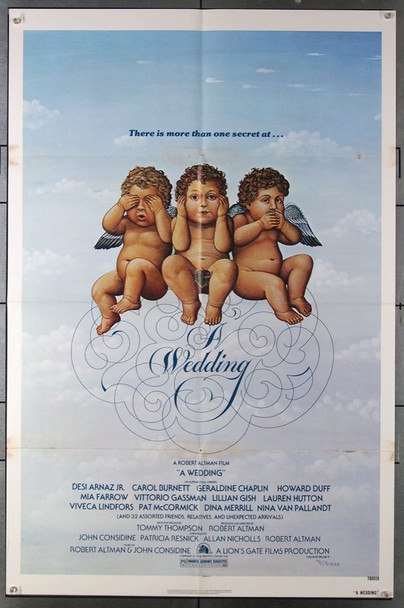 WEDDING, A (1978) 3115 20th Century Fox Original One-Sheet Poster (27x41) Folded  Very Good to Fine Condition