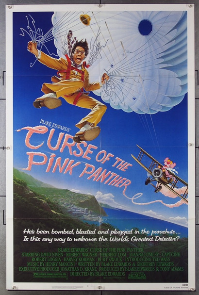 CURSE OF THE PINK PANTHER (1983) 3064 MGM/UA Original One Sheet Poster (27x41) Folded  Very Fine Condition