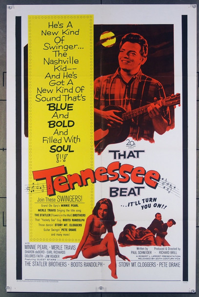 THAT TENNESSEE BEAT (1966) 18045 20th Century Fox Original One-Sheet Poster (27x41) Folded  Very Fine