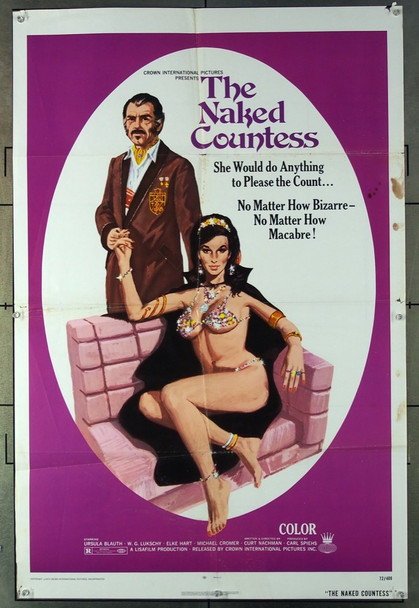 NAKED COUNTESS, THE (1972) 3604 Crown International One-Sheet Poster (27x41) Folded  Condition Fair