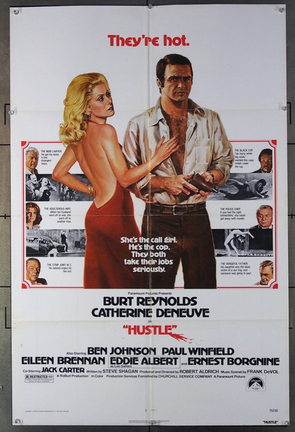 HUSTLE (1975) 3596 Paramount Pictures Original One-Sheet Poster (27x41) Folded  Fine Condition to Fine Plus