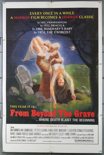 FROM BEYOND THE GRAVE (1973) 3048 Original Howard Mahler One Sheet Poster (27x41).  Folded.   Fine Plus Condition.