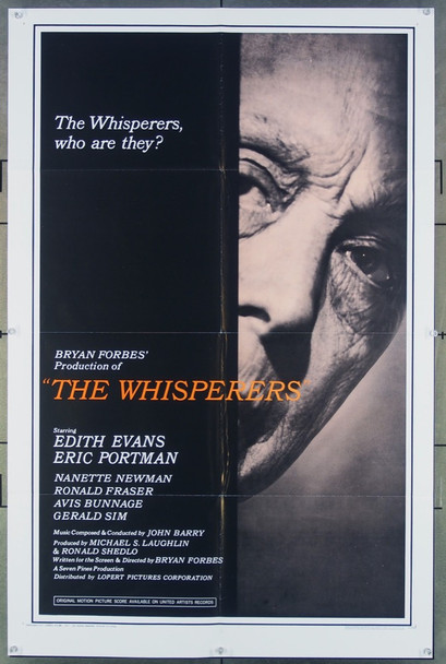 WHISPERERS, THE (1967) 18051 United Artists Original One-Sheet Poster (27x41) Folded Very Fine Condition
