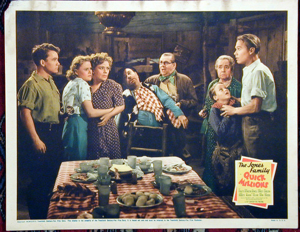 QUICK MILLIONS (1939) 15320 20th Century Fox Original Scene Lobby Card (11x14)  Fair to Good Condition  Average Used