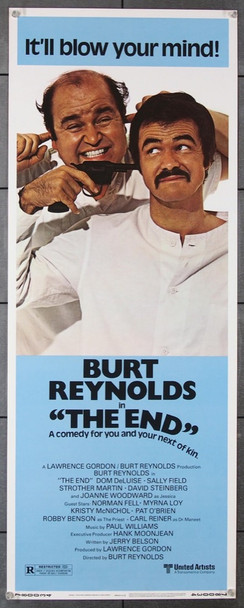 END,THE (1978) 12252 Original United Artists Insert Poster (14x36).  Unfolded.  Very Fine Condition.