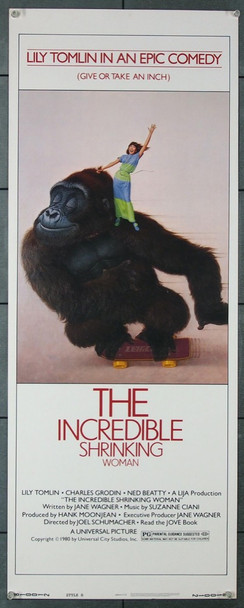 INCREDIBLE SHRINKING WOMAN, THE (1981) 12261 Universal Pictures Original Insert Poster (14x36) Fine Plus to Very Fine Condition