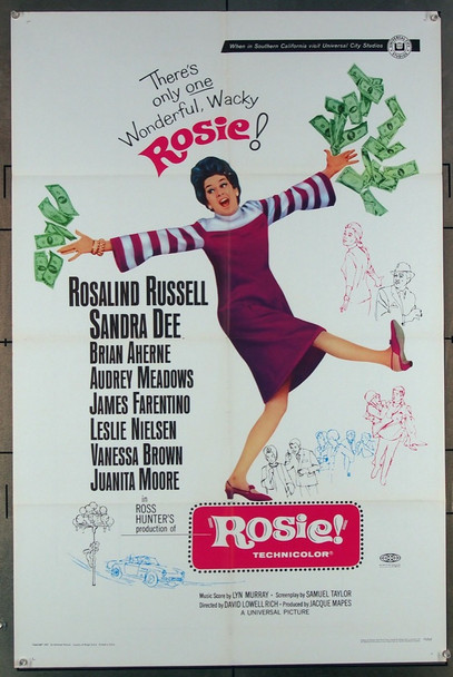 ROSIE! (1967) 18040 Universal Pictures Original One-Sheet POSTER! (27x41) Folded  Fine Plus Condition  NOT A DVD!!!