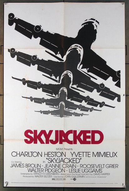 SKYJACKED (1972) 3111 MGM Original One-Sheet Poster (27x41) Folded  Fair to Good Condition.