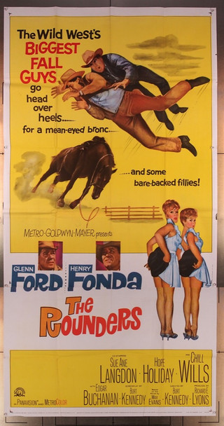 ROUNDERS, THE (1965) 16046 MGM Original Three-Sheet Poster  (41x81)  Folded  Fine Plus Condition