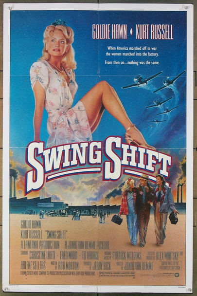 SWING SHIFT (1984) 425 Warner Brothers Original One-Sheet Poster (27x41) Folded  Fine Plus Condition