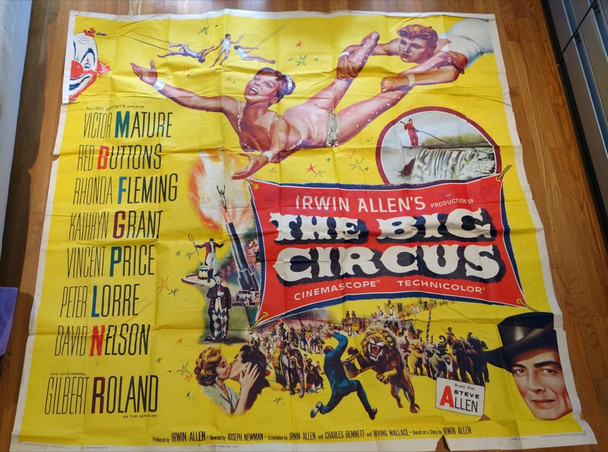 BIG CIRCUS, THE (1959) 26651 Allied Artists Original Six Sheet Poster (81x81) Folded  Very Good to Fine Condition