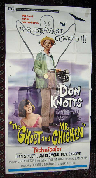 GHOST AND MR. CHICKEN, THE (1966) 15796 Universal Pictures Original Three Sheet Poster (41x81) Folded  Very Good Condition
