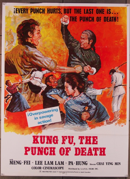 PUNCH OF DEATH, THE (1972) 26652 L.A.N.A. Films 27x37 Poster  (1974) Folded  Fine Plus Condition