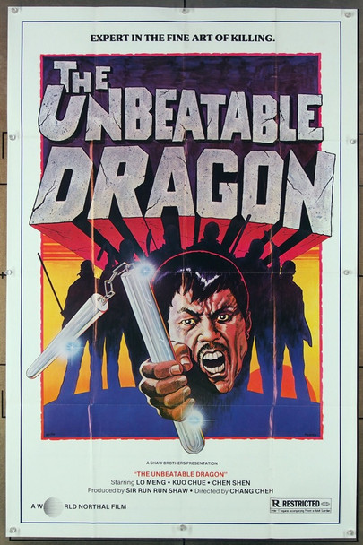 INVINCIBLE SHAOLIN (1978) [THE UNBEATABLE DRAGON]  26654 Original U.S. One Sheet Poster (27x41) Folded  Fine Condition