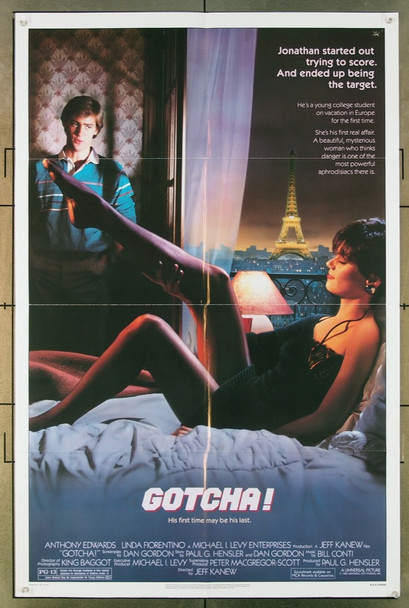 GOTCHA! (1985) 529 Universal Pictures Original One Sheet Poster (27x41) Folded  Very Good Condition