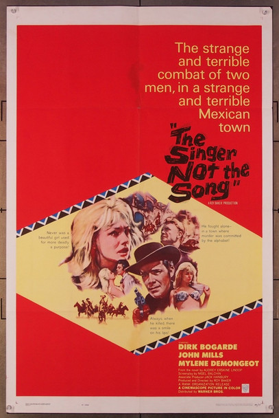 SINGER NOT THE SONG, THE (1961) 460 Warner Brothers Original U.S. One-Sheet Poster  (27x41)  Folded  Fine Plus Condition