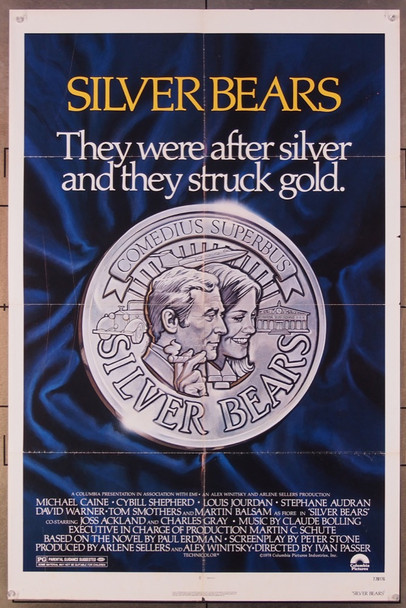 SILVER BEARS (1978) 447 Columbia Pictures Original One-Sheet Poster (27x41) Folded  Fine Condition