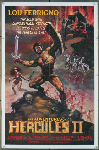 ADVENTURES OF HERCULES II, THE (1985) 1148 Cannon Original One-Sheet Poster (27x41) Folded  Very Fine Plus Condition