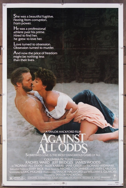 AGAINST ALL ODDS (1984) 1149 Columbia Pictures Original One-Sheet Poster (27x41) Folded  Very Fine Plus Condition