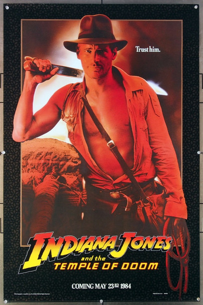 INDIANA JONES AND THE TEMPLE OF DOOM (1984) 266 Paramount Pictures Original Advance One-Sheet Poster (27x41) Rolled  Very Fine Condition